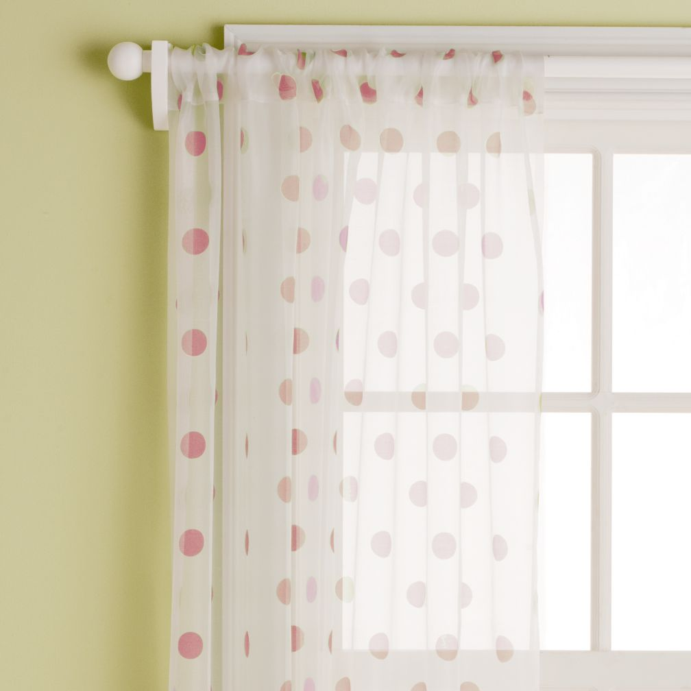 "63"" Dot Curtain Panel (Cranberry)"