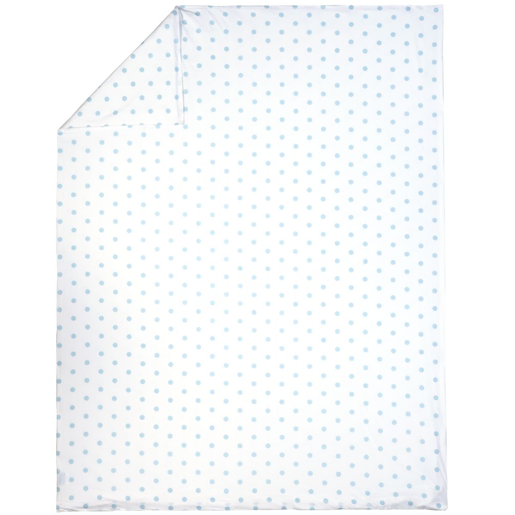 Twin Blue Pastel Dots Duvet Cover
