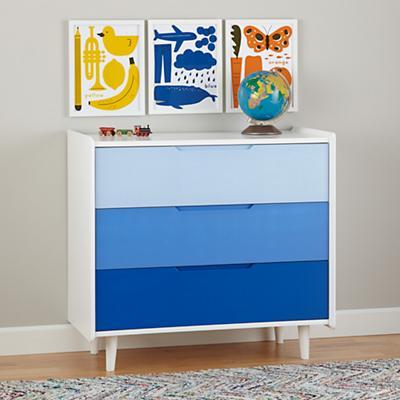 Chromatic 3-Drawer Dresser (Blue)