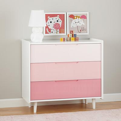 Sale alerts for  Chromatic 3-Drawer Dresser (Pink) - Covvet