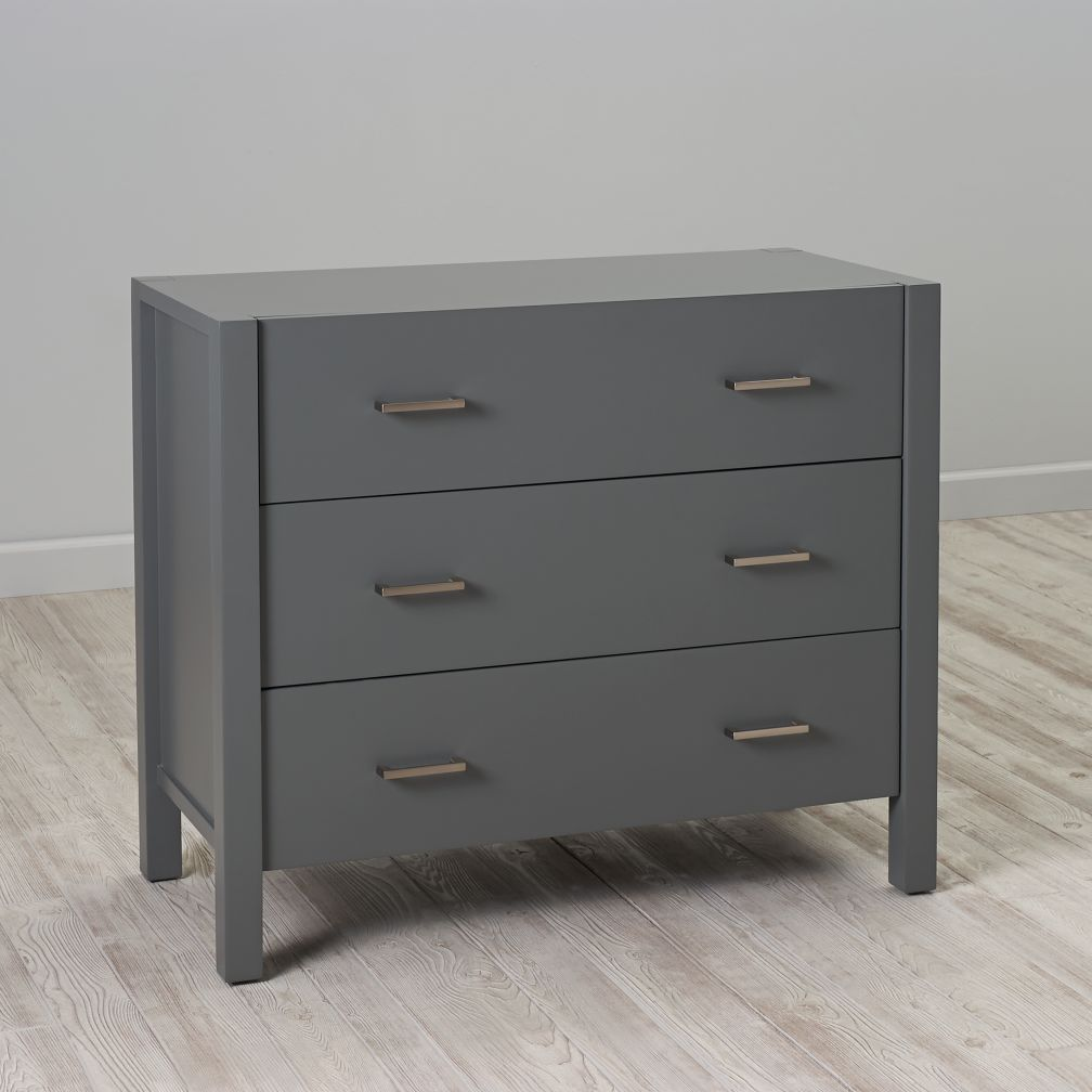 Uptown 3-Drawer Dresser (Grey)