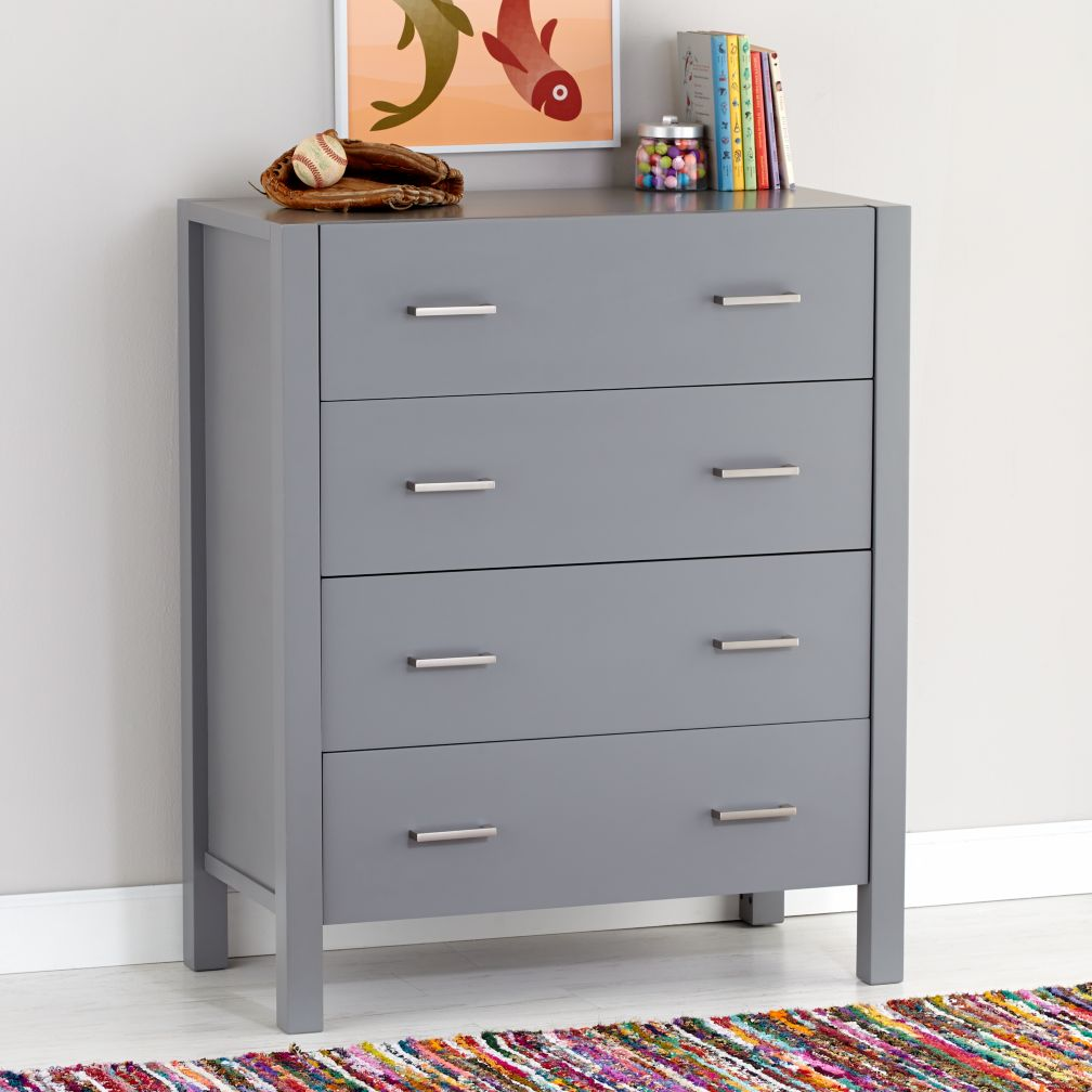 Uptown 4-Drawer Dresser (Grey)