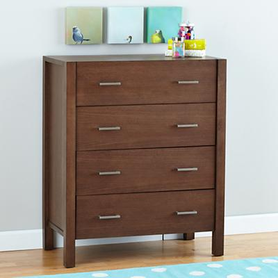 Uptown 4-Drawer Dresser (Brown)