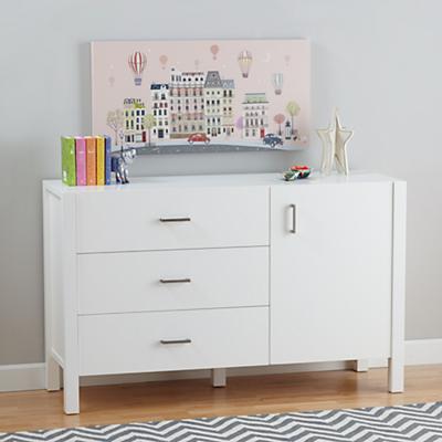Uptown Wide Dresser (White)