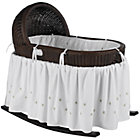 Espresso Bassinet w/Green Bedding Set