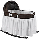 Espresso Bassinet w/Pink Bedding Set