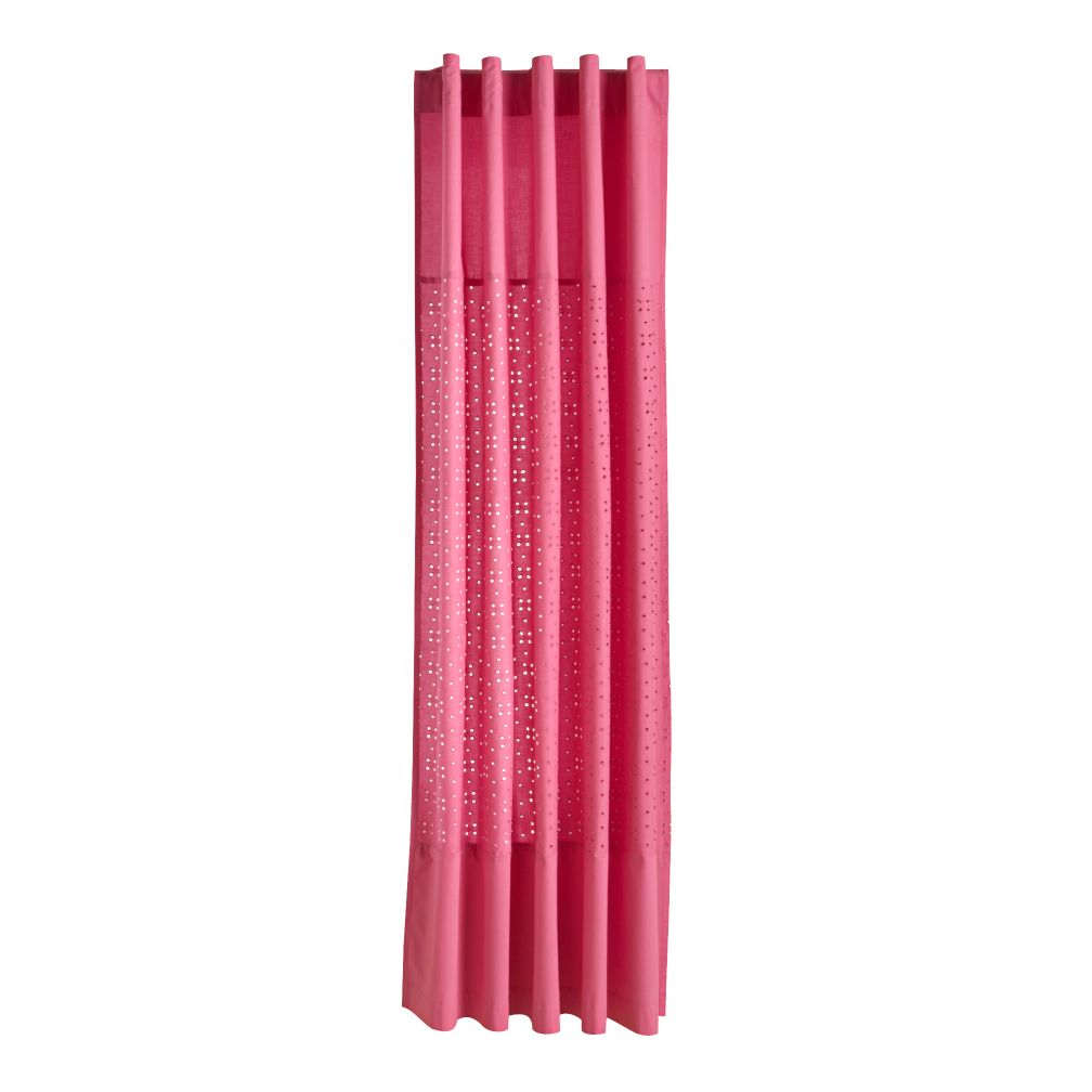 "63"" Eyelet Curtain Panel (Hot Pink)"