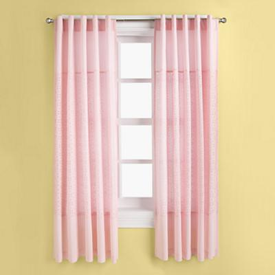Eyelet Curtain Panels (Pink)