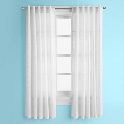 Eyelet Curtain Panels (White)