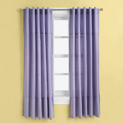 Eyelet Curtain Panels (Lavender)