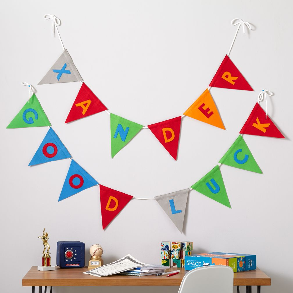 Print Neatly Pennant Garland (Boy)