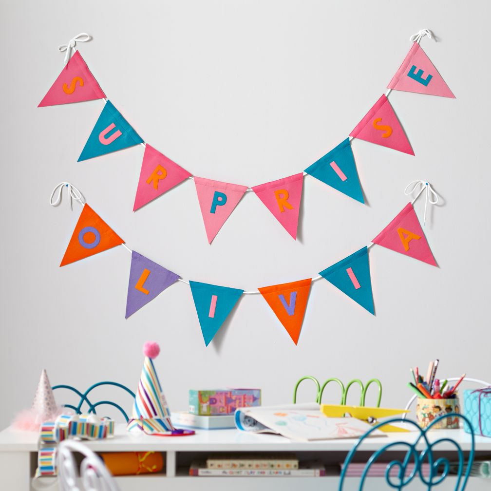 Print Neatly Pennant Garland (Girl)