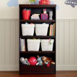 "Flat Top Bookcase, 60"" (Espresso)"