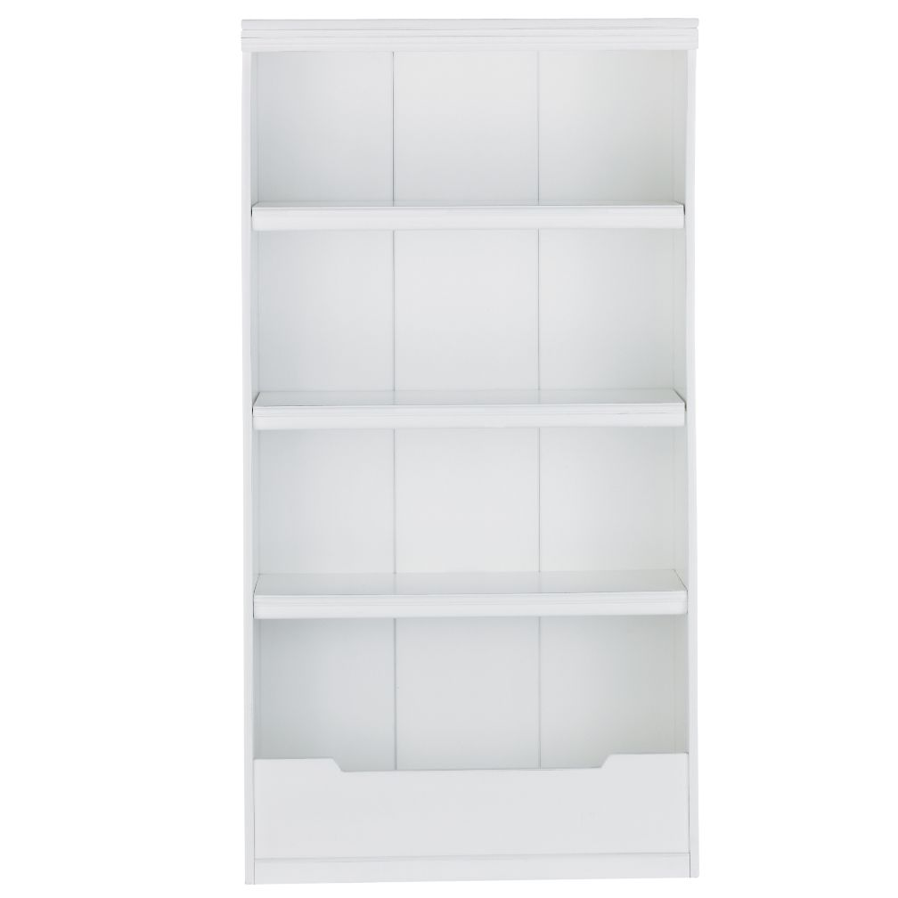 60&quot; Flat Top Bookcase (White)