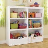 Flat Top Bookcase, 48&quot; (White)