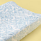 Blue Floral Changing Pad Cover