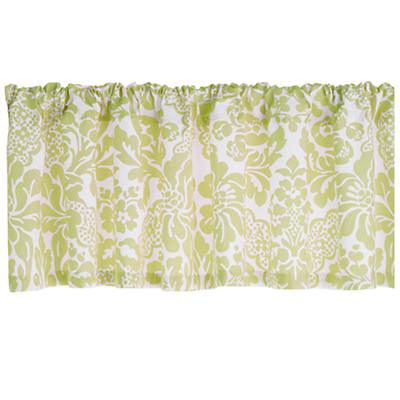 Green Floral Valance