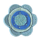 Blue Felt Flower