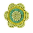 Green Felt Flower