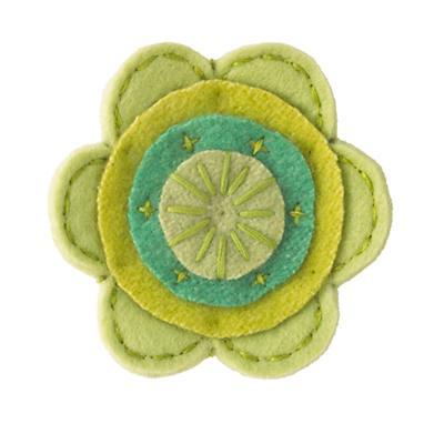 Green Felt Flower
