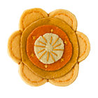 Orange Felt Flower