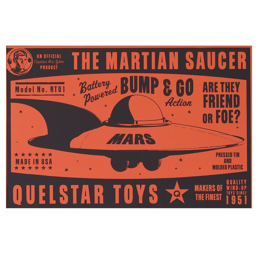 They&#39;re Heeere Outer Space Unframed Wall Art (Flying Saucer)