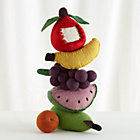 Set/6 Felt Fruit with Mesh Bag