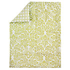 Green Floral/Lattice Reversible Crib Quilt