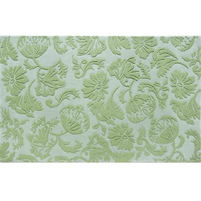 8 x 10' Lt. Green Raised Floral Rug