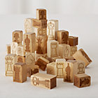 Chunky Wooden Chess Pieces