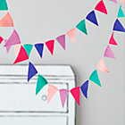 Bright Acute Felt Flag Garland