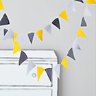 Neutral Acute Felt Flag Garland