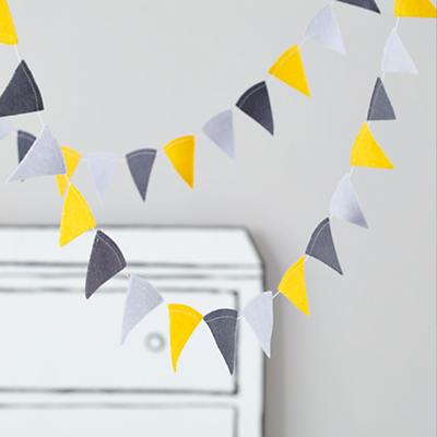 Acute Felt Garland (Neutral)