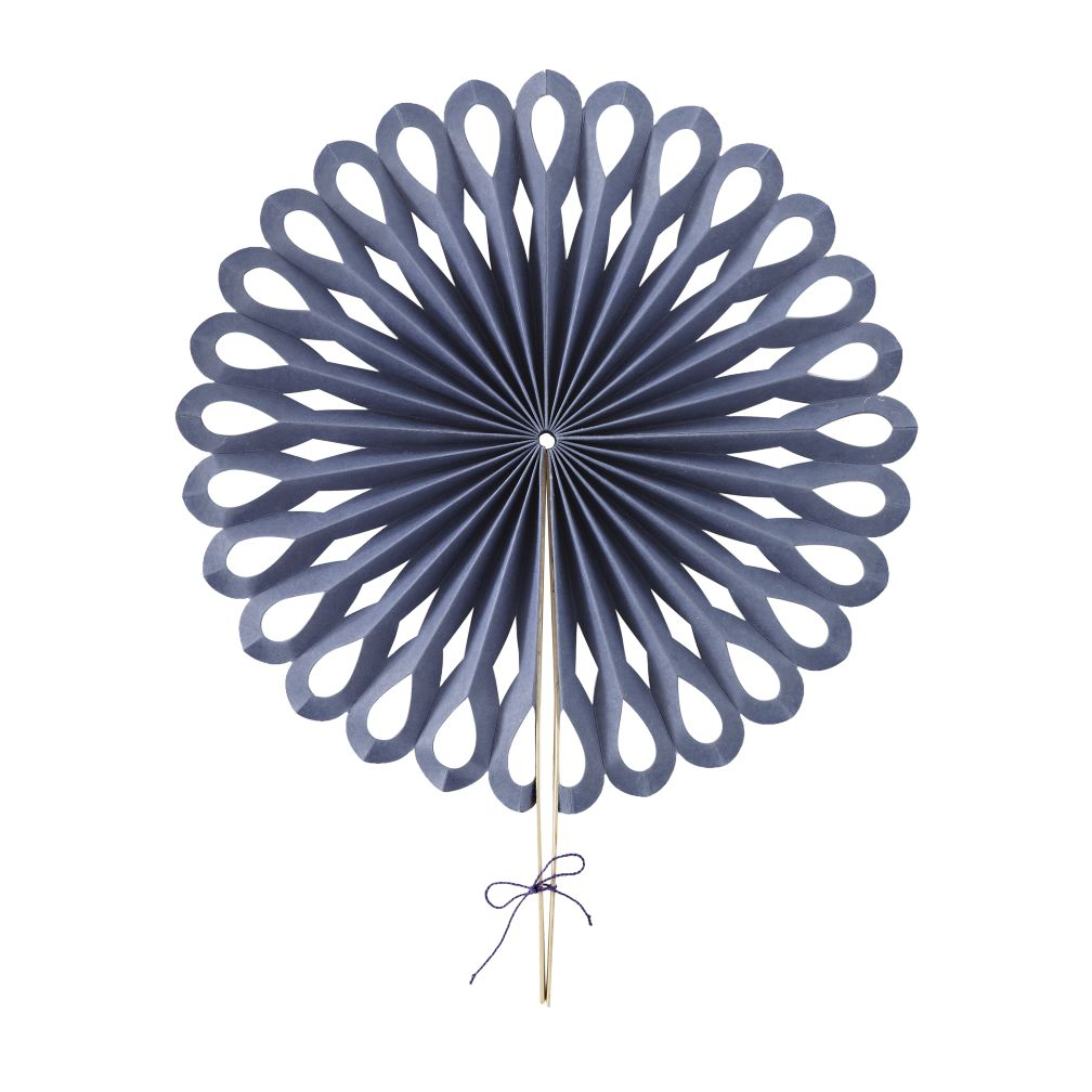 Large Die Cut Paper Fan (Dk. Blue)