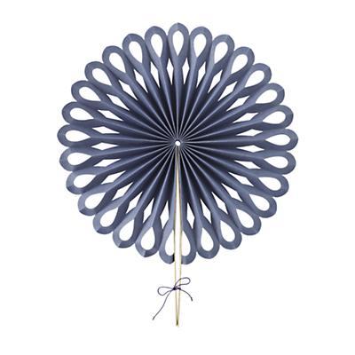Large Die Cut Paper Fan (Dk. Blue)