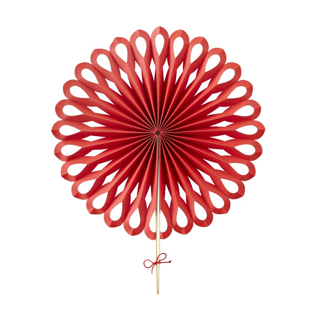 Large Die Cut Paper Fan (Red)