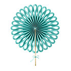 Aqua Large Paper Fan