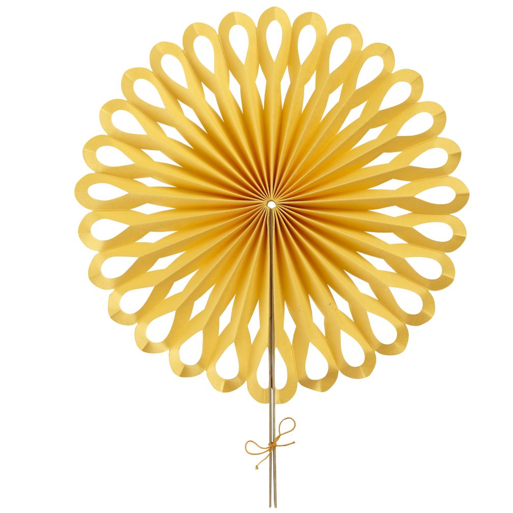 Large Die Cut Paper Fan (Yellow)