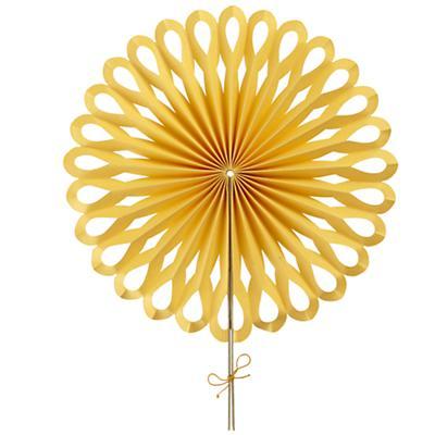Large Die Cut Paper Fan (Yellow)