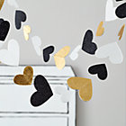Heartstring Gold, White and Black Garland
