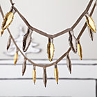 Gold and Silver Holiday Lights Garland