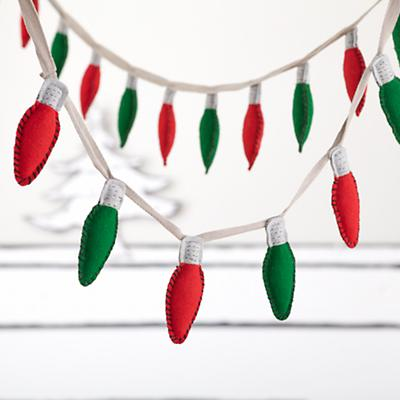 Holiday Lights Garland (Red and Green)