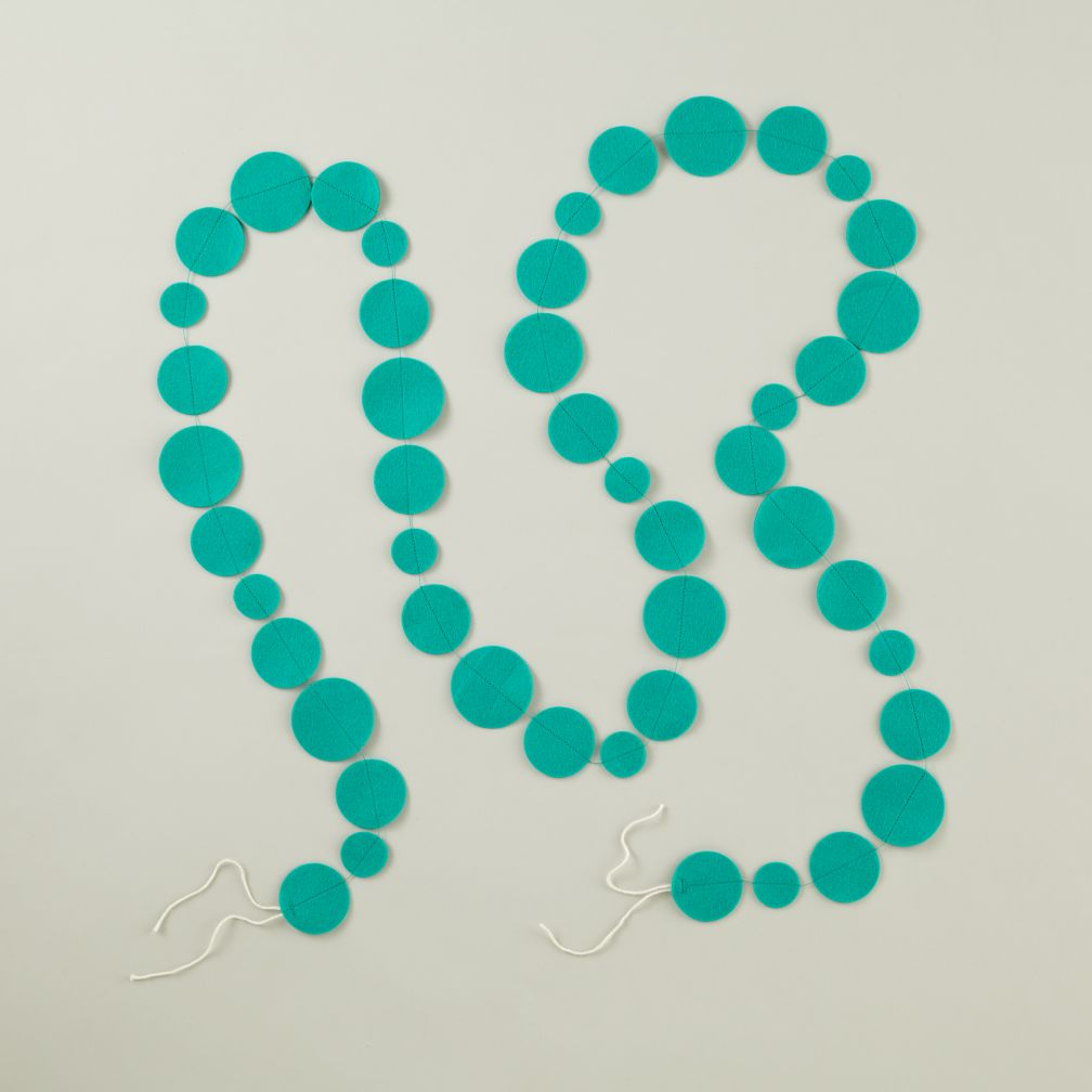 Teal Circle Garland