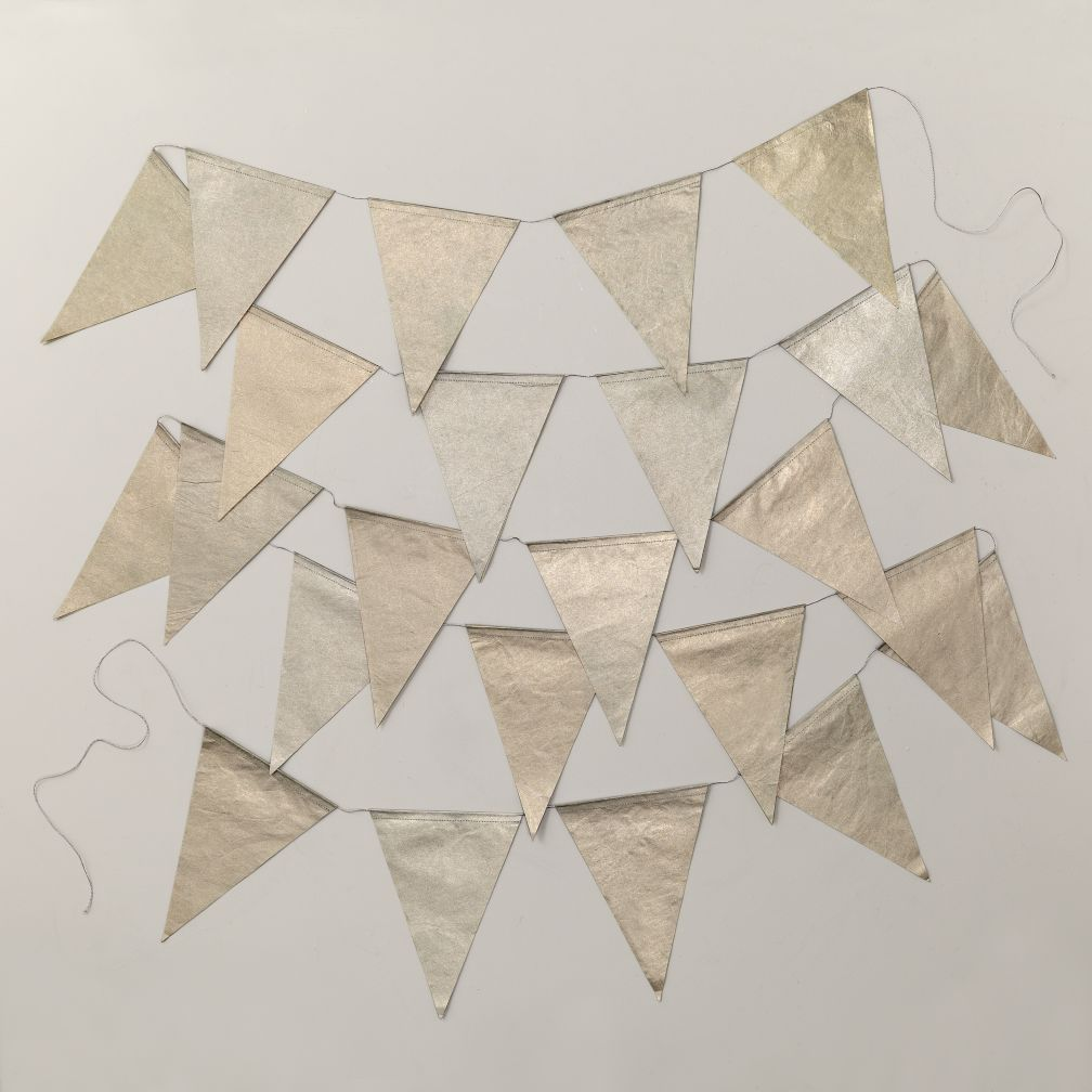 Metallic Pennant Garland