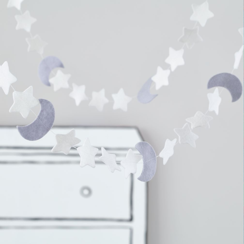 Night Sky Garland Moon and Star Garland