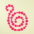 Hot Pink Circle Garland