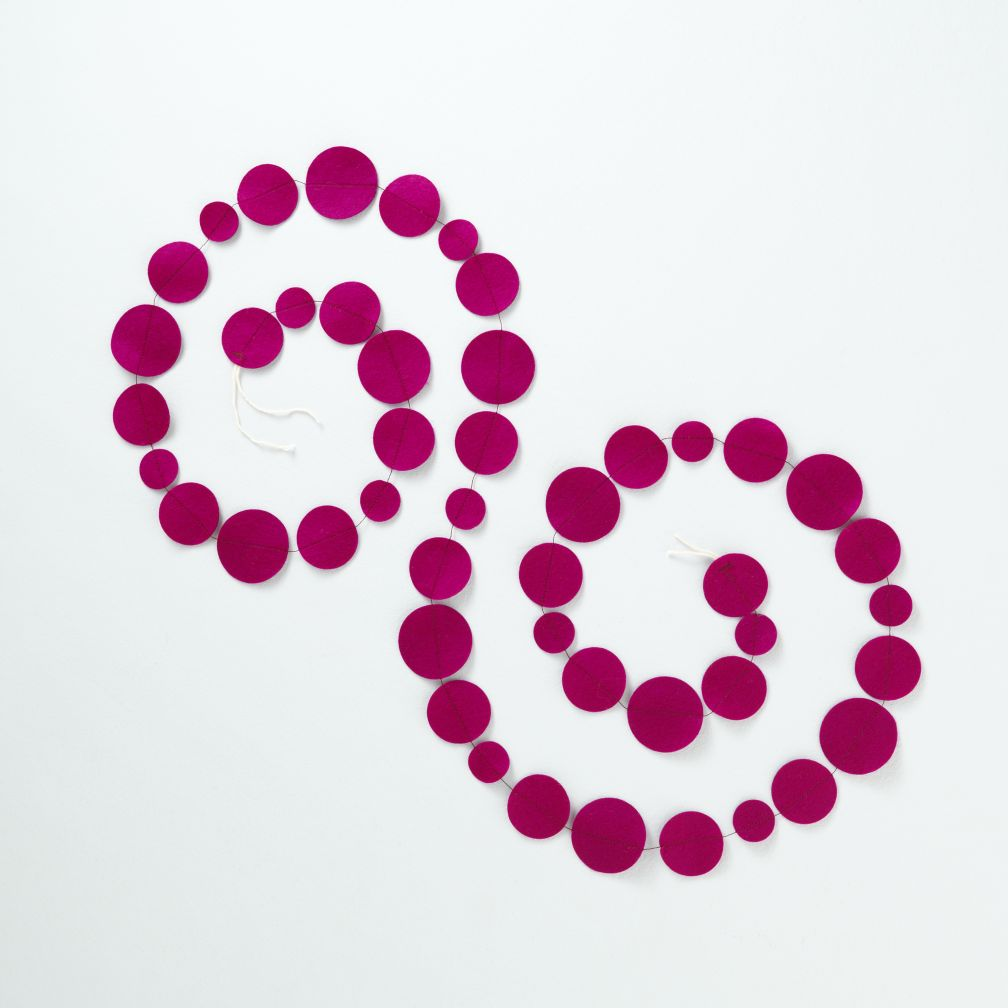 Magenta Circle Garland