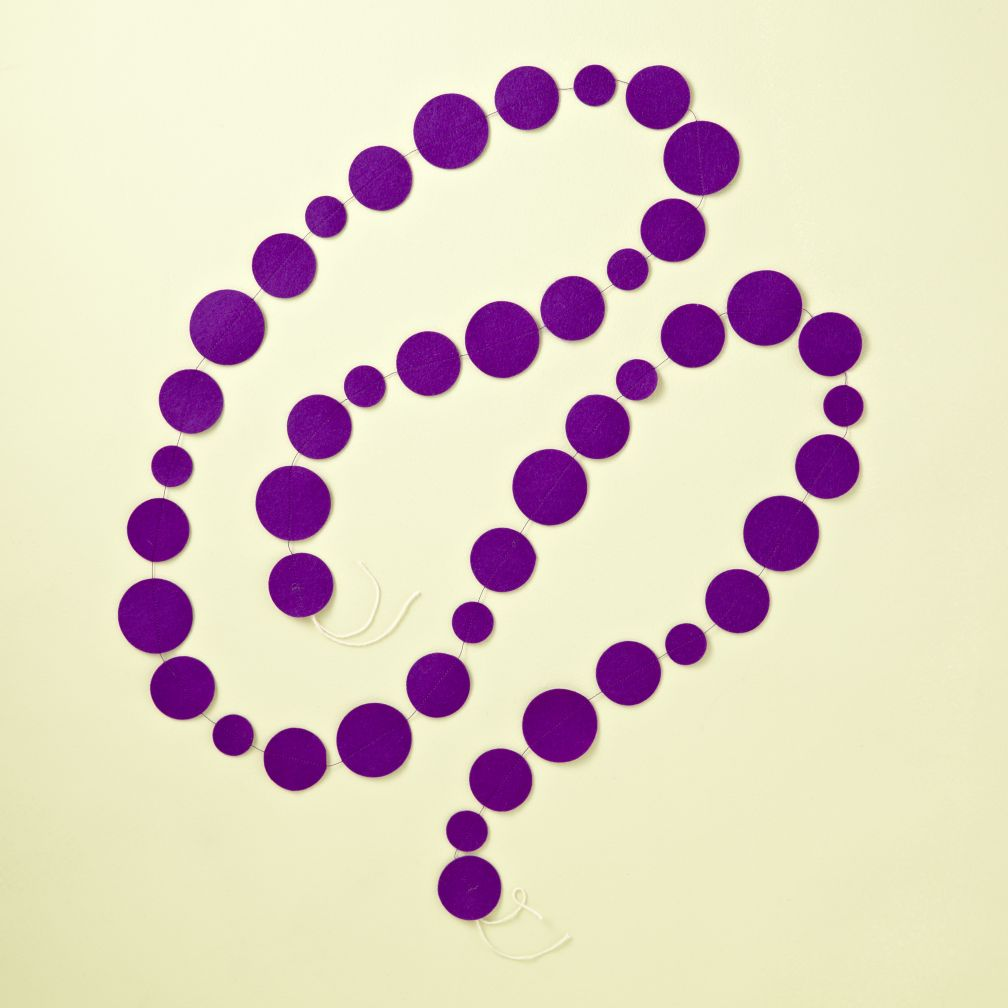 Purple Circle Garland