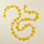Yellow Circle Garland