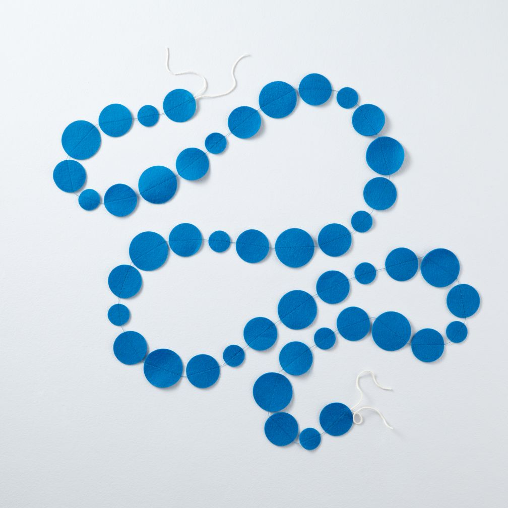Blue Circle Garland